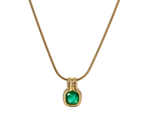 Cushion Cut Emerald Pendant ONLY