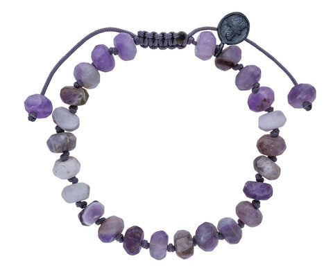 Dogtooth Amethyst Beaded Bracelet - TWISTonline