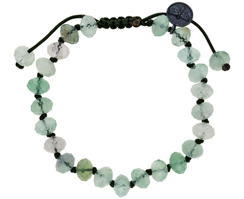 Faceted Flourite Beaded Bracelet