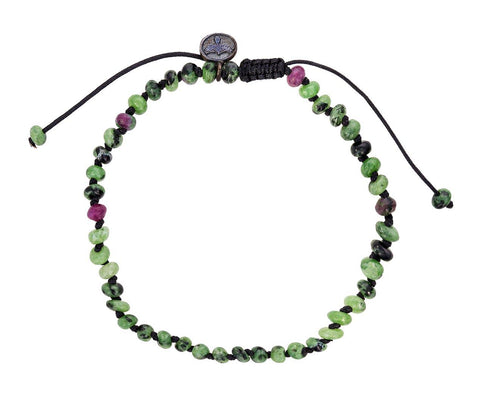 Ziosite and Ruby Beaded Bracelet - TWISTonline
