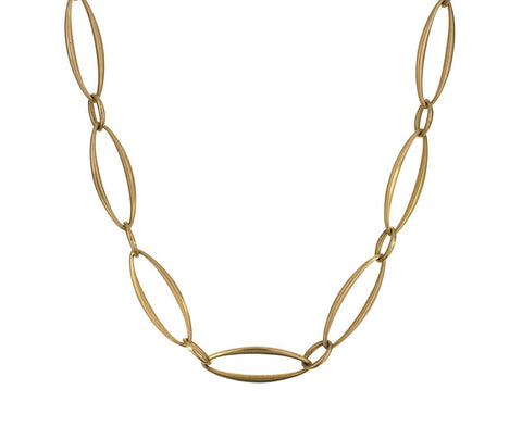 Gold Oval Link Chain Necklace - TWISTonline