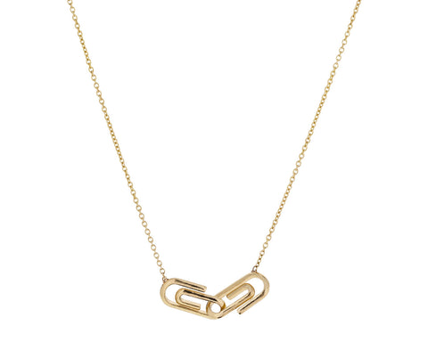 Double Mini Paperclip Necklace - TWISTonline