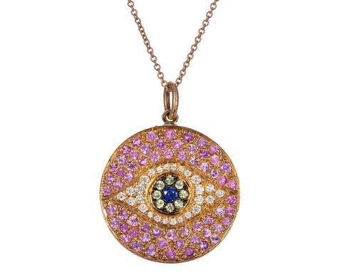 Dawn Evil Eye Pendant Necklace - TWISTonline