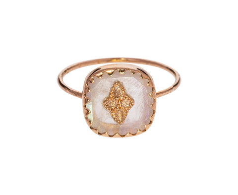Moonstone and Diamond Ring - TWISTonline