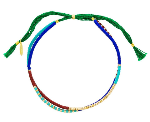 Green Carlita Beaded Bracelet - TWISTonline