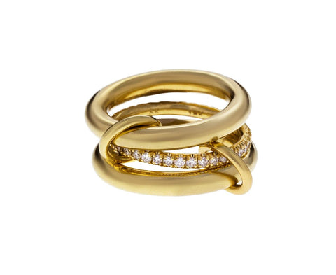 Yellow Gold Diamond Libra Ring - TWISTonline