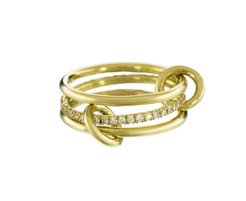 Gold and Diamond Triple Sonny Ring - TWISTonline