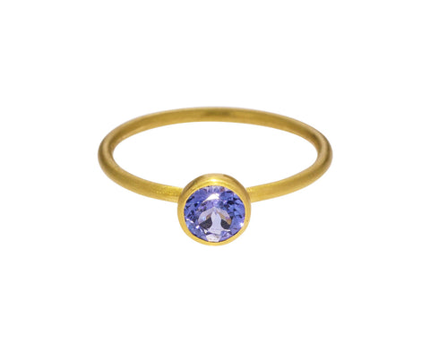Miniature Tanzanite Princess Ring