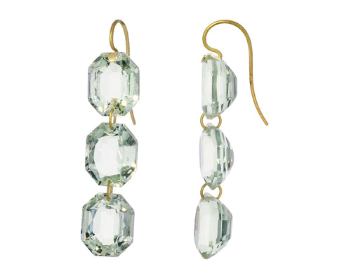 Green Quartz Spring Earrings