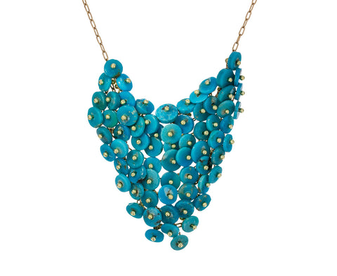 Turquoise Beaded Bib Necklace - TWISTonline