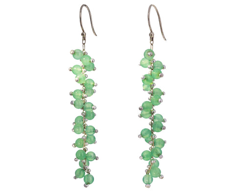 Long Chrysoprase Earrings - TWISTonline