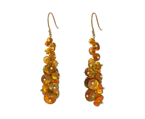 Long Tapered Opal Earrings - TWISTonline