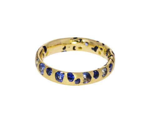 Mixed Blue Sapphire Confetti Ring