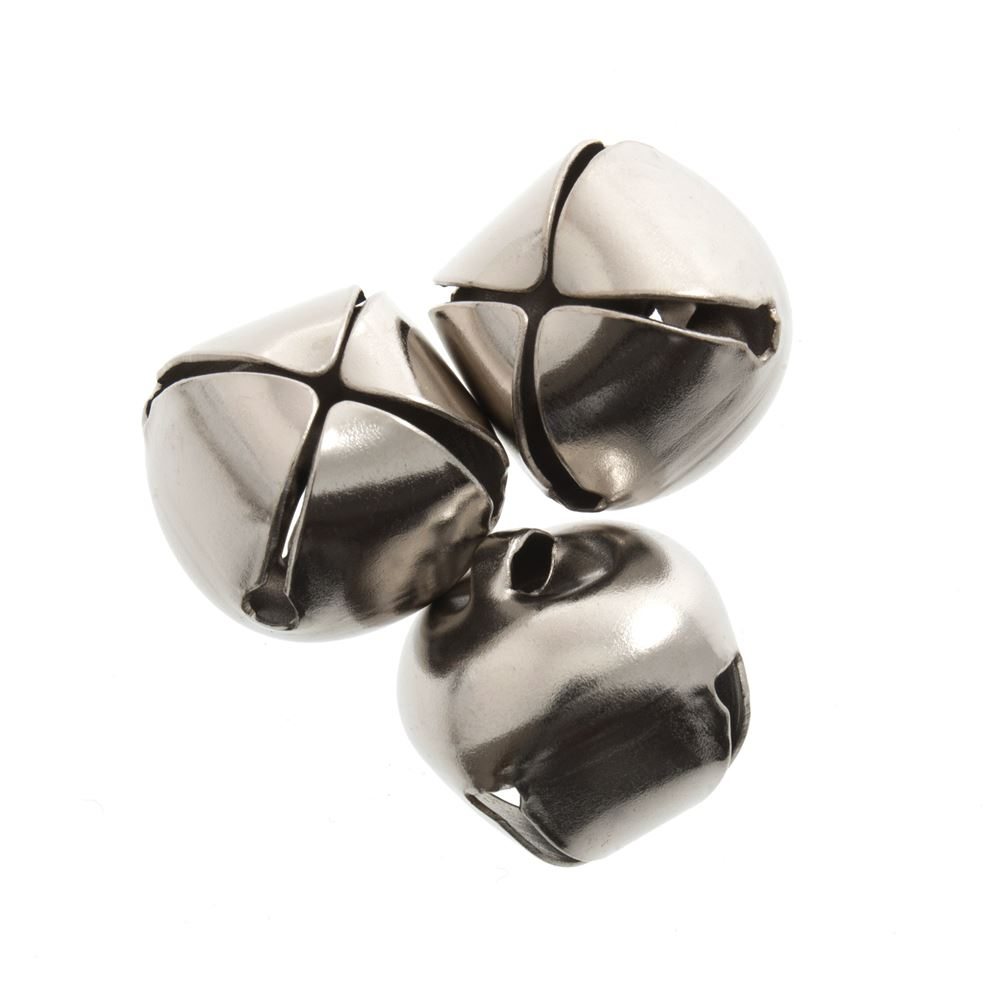 Bells: Jingle: 10mm: Silver: 10 Pack