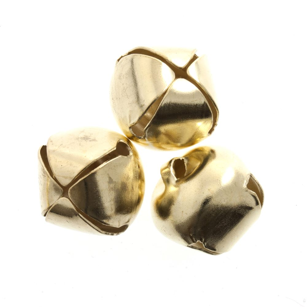 Bells: Jingle: 10mm: Gold: 10 Pack