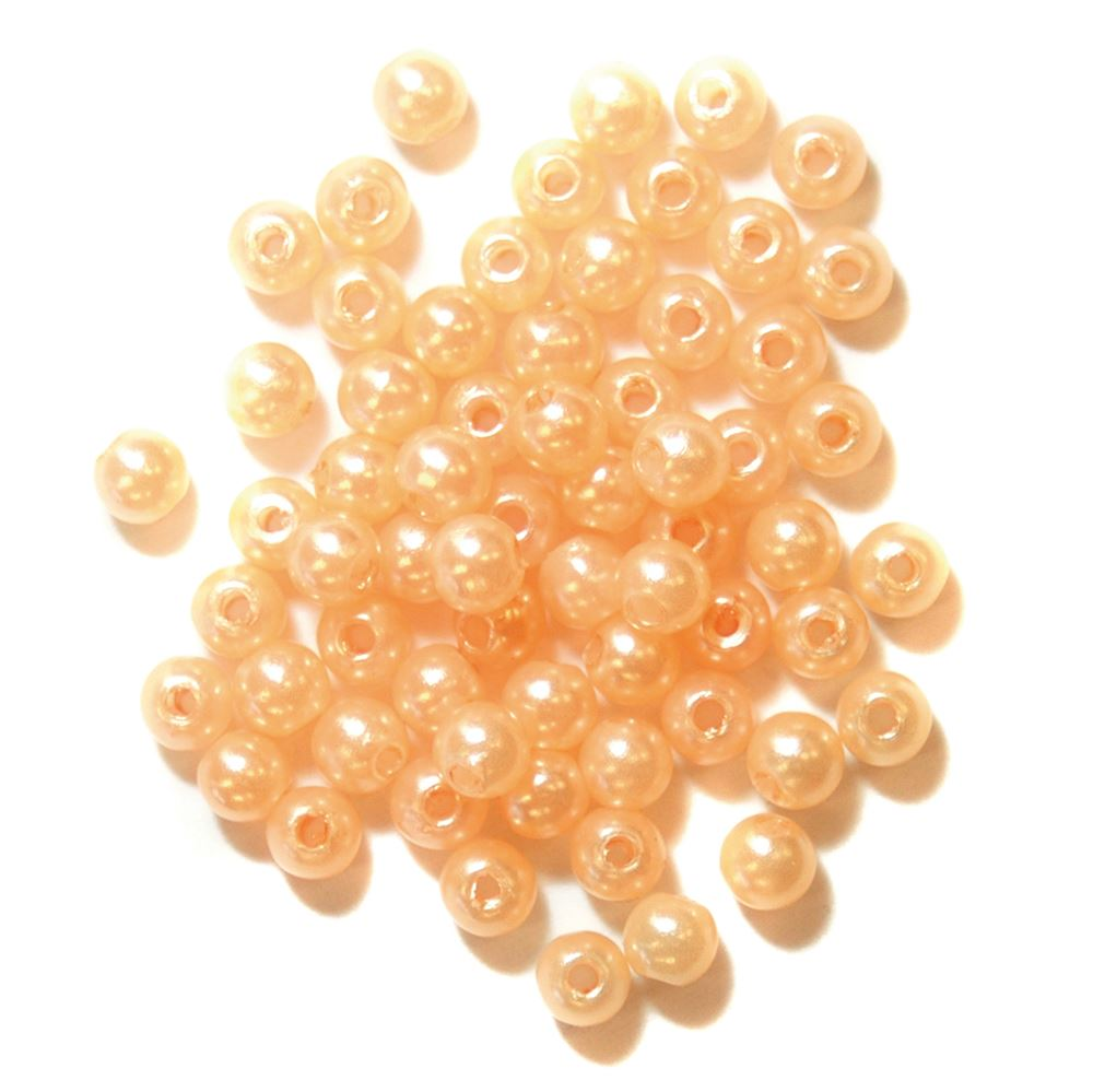 Pearls: 4mm: Orange: Packs of 7g