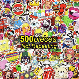 Exclusive 500 Sticker Pack (NO DUPLICATES)