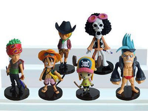 6 Pc/ 12 Pc One Piece Figure Keychain Sets