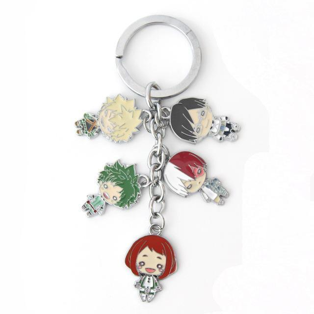 Metal My Hero Academia 5 Pc Keychain