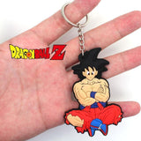 Rubber Goku and Shenron Keychains