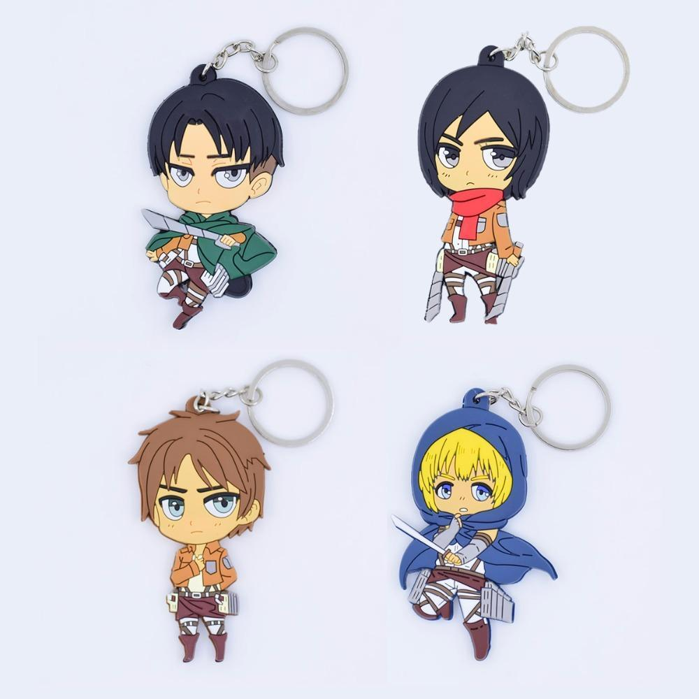 Rubber Attack On Titan Keychain