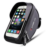 Waterproof Bike Bicycle Phone Case Storage Pouch Bag TouchScreen With Zipper Install On Handlebar For Cycling Riding