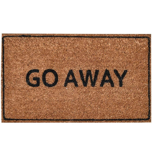 Ninamar Door Mat Go Away Natural Coir - 29.5 x 17.5 inch - Foot Matters