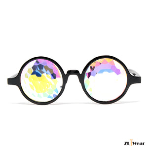 ZL iWear Black Kaleidoscope Glasses- Fractural Rainbow Crystals