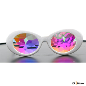 ZLiWear - NEW DESIGN -White Clout Shape  Kaleidoscope Glasses