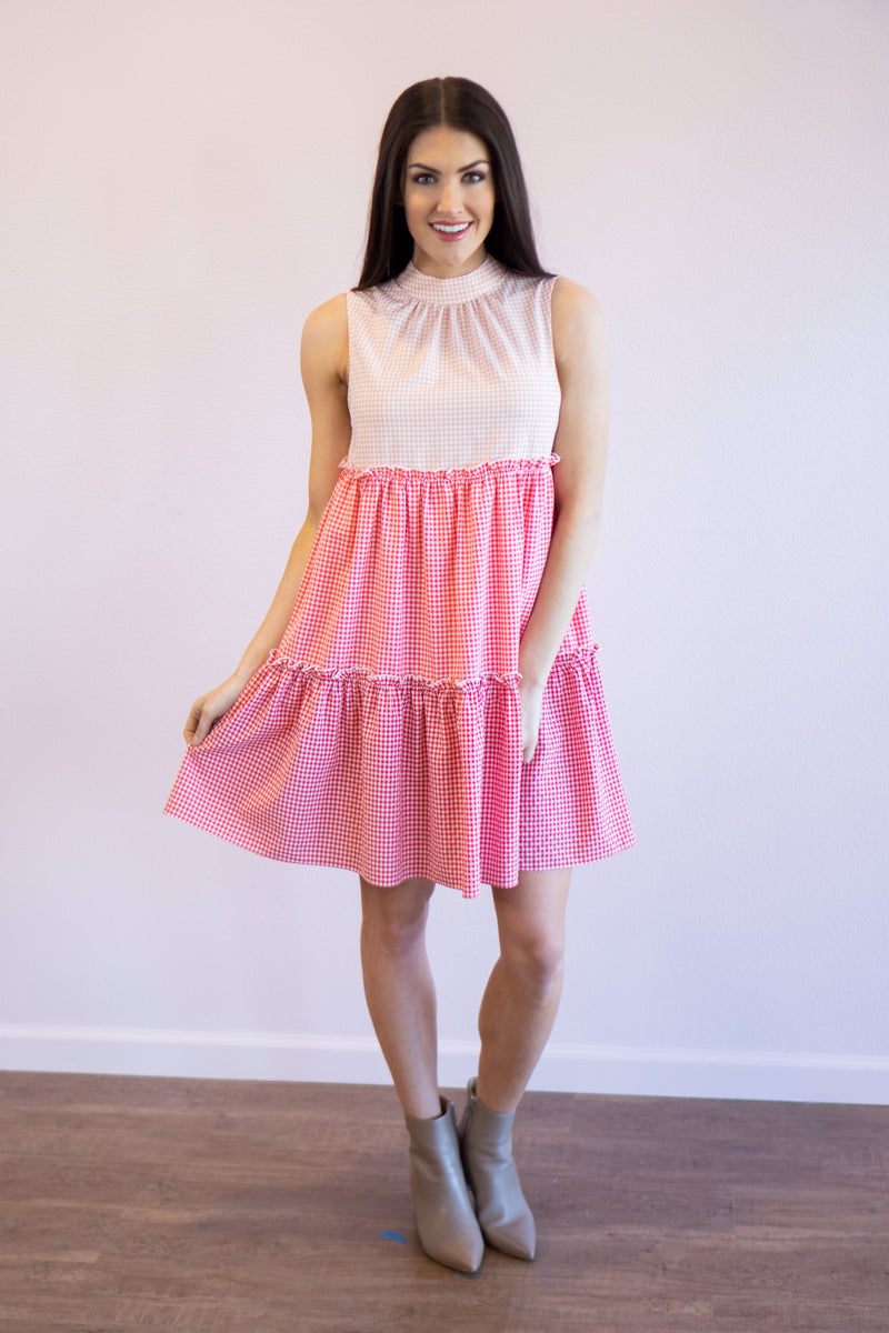 Emma Sleeveless Tiered Dress