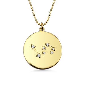 Silver Milky Way Constellation Coin-Necklace (Gold Plated)