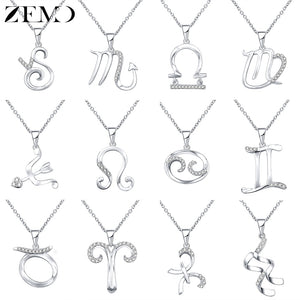 Silver Zodiac Choker Necklace