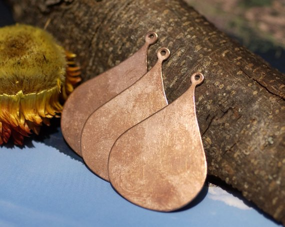 Arabic teardrop blank for layered pendants, or earrings - DIY Jewelry Supplies by SupplyDiva
