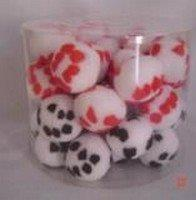 CANISTER OF CAT TOYS PLUSH BALLS 40 / PCS