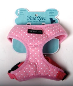 PINK LARGE POLKA DOTS D-ring HARNESS