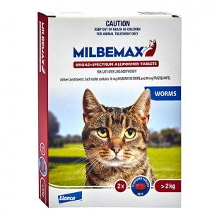 MILBEMAX ALLWORMER FOR CATS OVER 2KG  (2 PACK)