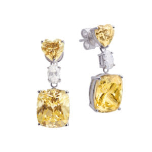 SHA0223 SQUARE GEM EARRING