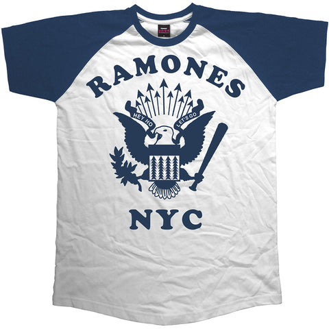 Ramones Men's Raglan Retro Eagle T-shirt
