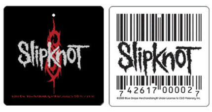 Slipknot Barcode and Logo 2 pack Air Freshener