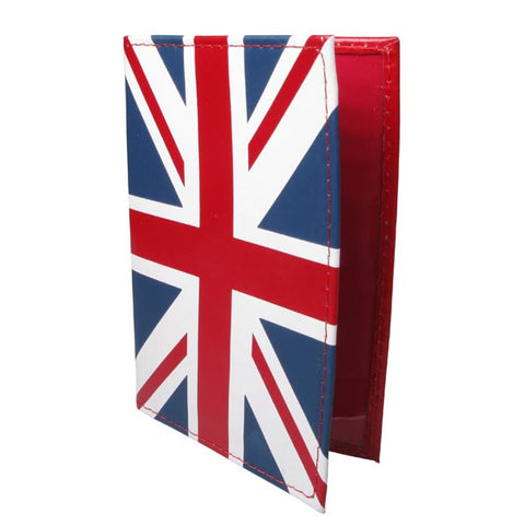Various Punk Passport Holder Red Leather Union Jack Purses and Wallet
