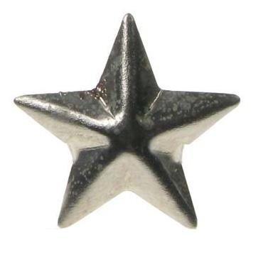 Various Punk Large Star Studs in a pack of 10 Stud
