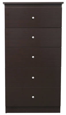 Basics 5 Drawer Chest - Espresso