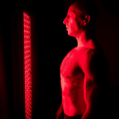 Image of 660nm Deep Red and 850nm Near-Infrared LED Light Therapy Full Body Device for Collagen Boost | Facial & Body Beauty Light Treatment.