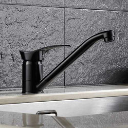 KCASA KC-9100 Zinc Alloy Black Lacquer Kitchen Faucet Tap Rotated Toilet Single Hole Basin Faucet Mixer Brass Tap
