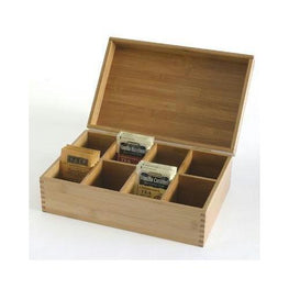 Bamboo 8 Compartment Tea Box