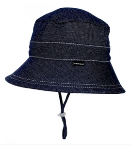 Bedhead Kids Bucket Hat with Strap - Denim, Bedhead hat - All Things Babies