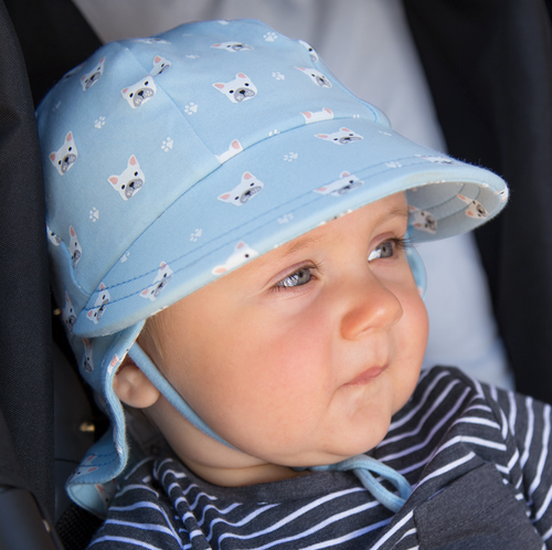Legionnaire Flap Hat 'Frenchie' Print, Bedhead hat - All Things Babies