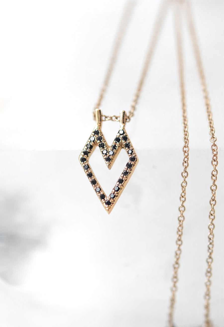 Medium Gothic Heart Necklace