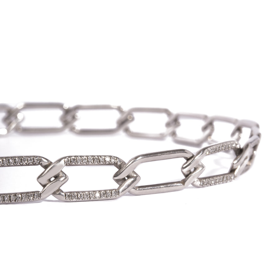 Chain Link Choker in Sterling Silver