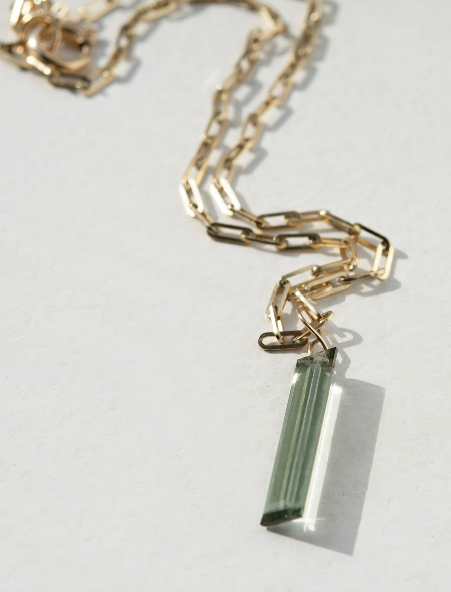 Green Amethyst Amulet Necklace
